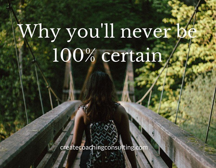 Why you'll never be 100% certain (and that's OK)