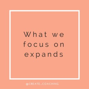 what we focus on expands