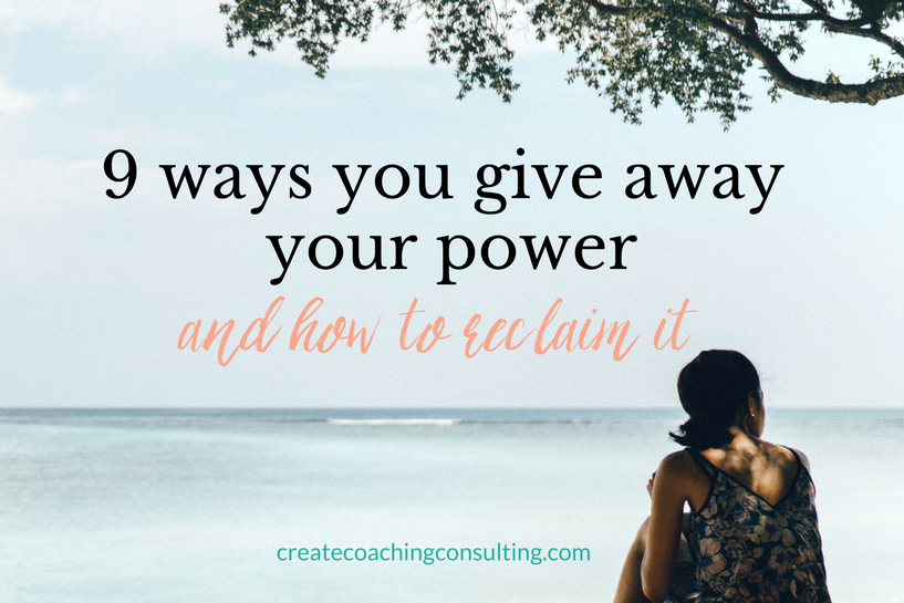 give away your power